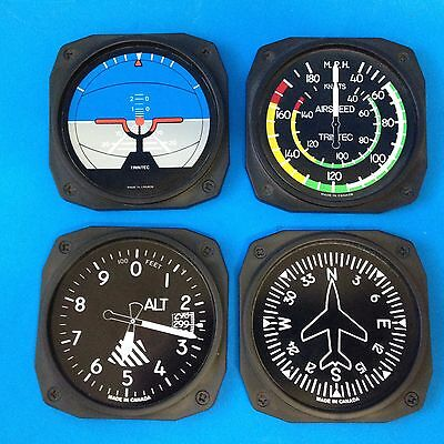 4 x Aircraft Plane Instrument Panel - Drink Coasters - 20yo+ - Made in Canada