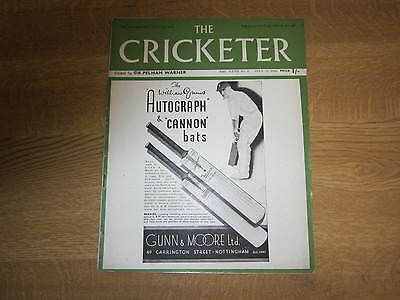 July 13th 1946, THE CRICKETER, William Caldecourt, Harry Pichanick.