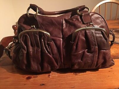 Marron Large Brown Butter Soft Leather Shoulder Bag