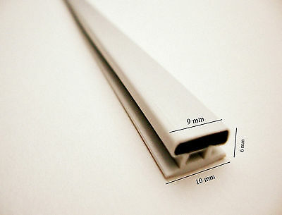MAGNETIC SHOWER DOOR SEAL 10mm CHANNEL (SET OF TWO) 2M LONG