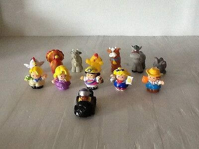 13 x FISHER PRICE LITTLE PEOPLE & LITTLE ANIMALS