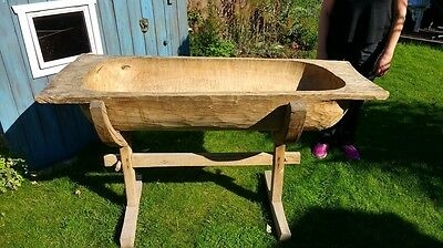 Antique Large Dough Bin on Stand