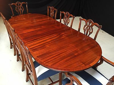 Grand Victorian Regency Style Mahogany Table Proessionally Hand French Polished