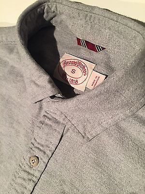 Men's Brooks Brothers - Long sleeve shirt - Grey - (Small size)