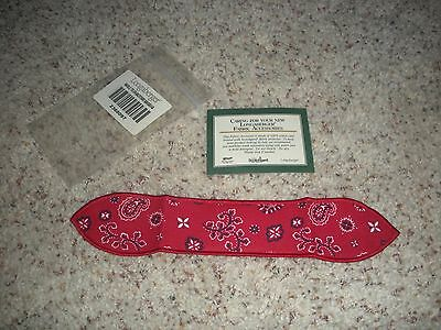 LONGABERGER Small Handle Tie ~ Backyard Bandanna ~ NEW