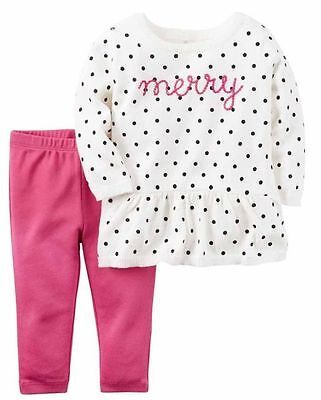 NWT baby girl Carter's 2-piece Sweater Set 3M
