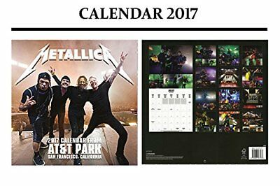 Metallica Official Calendar 2017 + Metallica Fridge Magnet