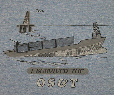 S * thin vtg 80s rayon tri blend I SURVIVED THE OS&T t shirt * 14.111
