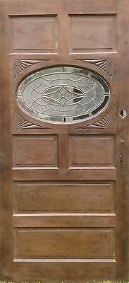 Extra Large Oval Beveled Glass Entry Door