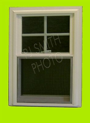 White Double Hung Vinyl Replacement Windows pkg. of 10,Low E and Argon,No Grids
