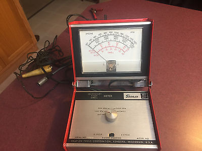 Vintage Untested Snap-On #mt 417 Secondary Tach Dwell Meter