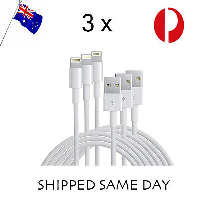 3 X iPhone Cable Lightning Data Cord for Genuine Apple 5 6 7 S C Plus