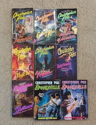 Lot of 9 Christopher Pike Books: Young Adult Horror Books