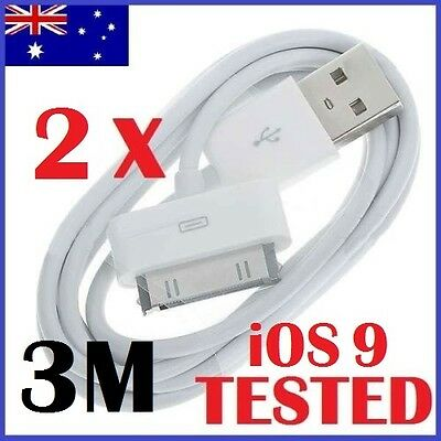 3M Long 1-10 Pack USB Data Sync Charger Cable For iPhone 4 4S 3GS iPad 2 3 iPod
