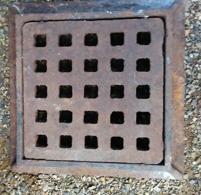 Iron Storm Drain Grate with Frame