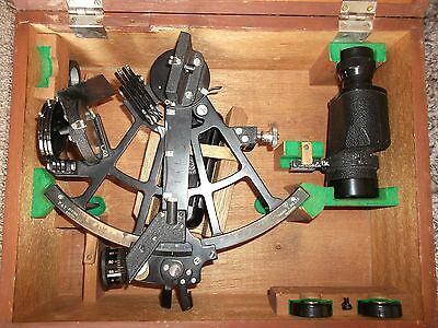 Tamaya Antique Master Sextant with illumination and 7x35 scope