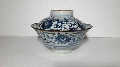 Rare 18Th/19Th C Qing Dynasty Antique Chinese Blue And White Porcelain Bowl