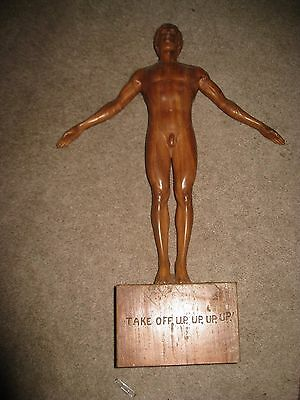 """Signed Apolinario Bulaong 18"""" Carved Male Figure RARE FIND Philippines Master"""