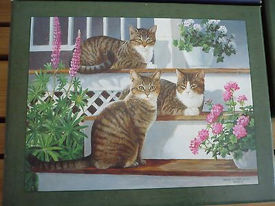 "New 2013 LANG Boxed NOTE CARDS Persis Clayton Weirs ""Sleepy Cats"""