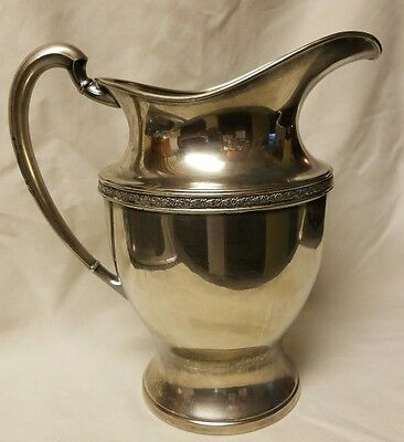 Antique Silverplate Friedman Silver Co. Water Pitcher 2qt E.P.N.S. #5576