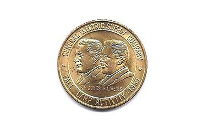 1959 General Electric Supply Co. Medal - Golden Eagle Plus - Fall Lamp Activity