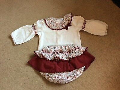 Baby Lai..spanish..romany..girls Long Sleeve Vest & Jam Pants Outfit....6 Months