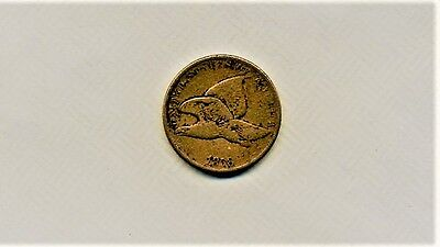1858 Flying Eagle Cent,vf Grade,very Old & Rare