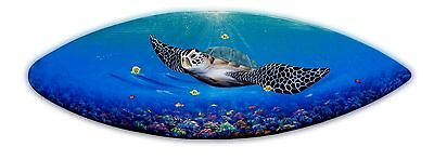 Sea Turtle coral reef Surfboard Wall Art Handcrafte hand painted nautical fish