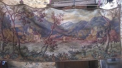 Large  Antique French Tapestry, Lined, Superb, French Chateau