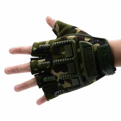 Military Tactical Half Finger Fingerless Cycling Climbing Gloves Mittens Antiski