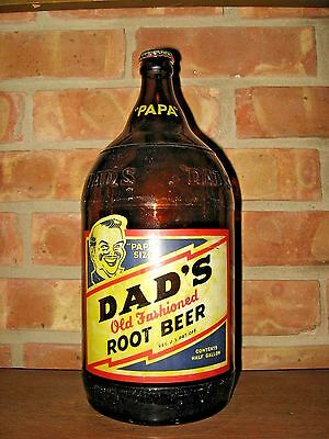 VINTAGE Dad's OLD FASHIONED ROOT BEER ACL Soda Bottle PAPA SIZE