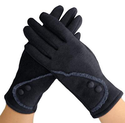 Knolee Women's Lace Touch Screen Lined Thick Warmer Winter Gloves