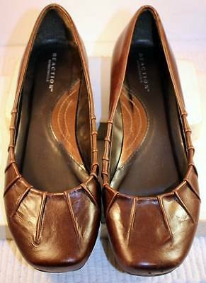 Women's Brown Leather REACTION Flats - Size 7
