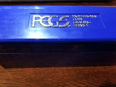 """PCGS Blue """"Slab"""" Container (holds 20 slab coins) bb"""
