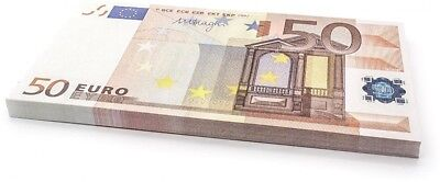 75 X And Euro;50 EURO Cashbricks Play Money Notes - Size: 125%