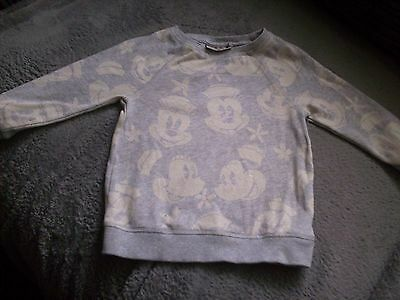 Baby Girls Next Grey Minnie Mouse Disney Top / T-Shirt Age 12-18 Month Good Con