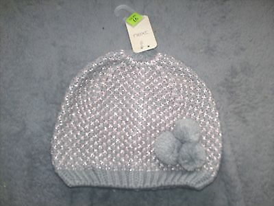 Baby Girls Next Silver Grey  Hat  / Cap   Age 1-2 Years  New