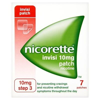 39 X NICORETTE 10mg PATCHES: 5+ BOXES Step 3 + free gum sample