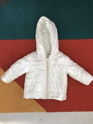 CATIMINI Size 9MONTH URBAN WHITE PADDED WINTER COAT