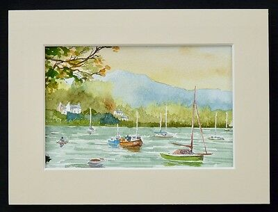 "Original watercolour painting ""The Lakes"" by UK artist Roy Holmes"