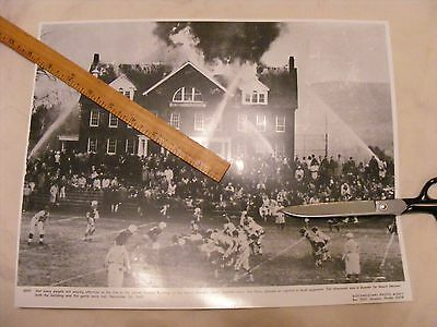 >> Firemen & Football Nov.26,1965 Mount Herman , Mass playing football while the