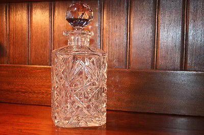Stunning Antique Heavy Crystal Decanter