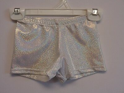 T-4,CXS, 50% off, Silver Mini Dot Hologram Booty Shorts, DANCE-KIDS-BABY-TODDLER