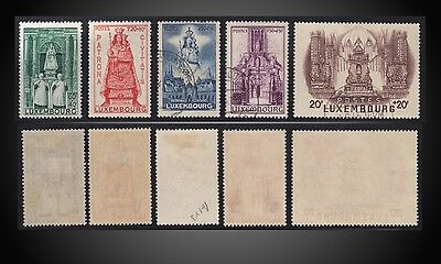 1945 Semi Postal Religion Madonna Luxembourg Protector Mint, Used Sct. B121-B125