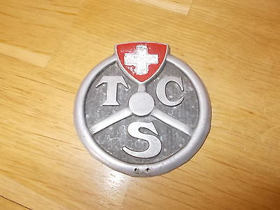 TSC Touring Club Schweiz Plakette Badge Alu 60er