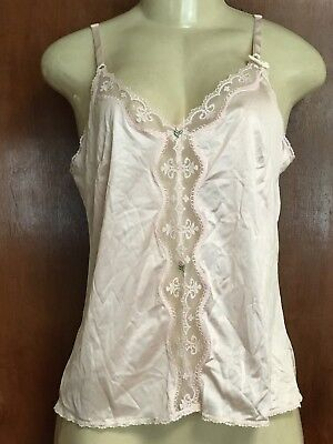 Vintage Sears Lace all Nylon Antron Pink Camisole Sz 36 NWT.