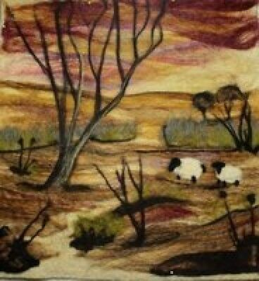 Needle-Felting Picture Kit - Sheep At Sunset