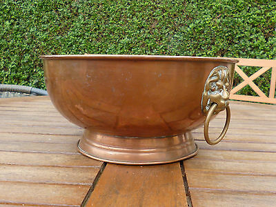 Gorgeous Large Antique Victorian Arts and Crafts Copper Bowl-Neo Classical