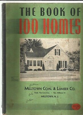 1950: THE BOOK OF 100 HOMES 1st. Ed, 100 Homes W/ Floor Plans Illus., SCARCE