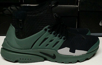 reputable site 5b850 e25fc Nike Air Presto Mid SP Size 12 Black Vintage Green Silver Mens Shoe AA0868- 003